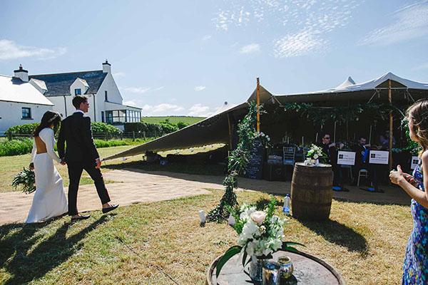 Ballintoy stretch tent wedding - Ariana & Matt