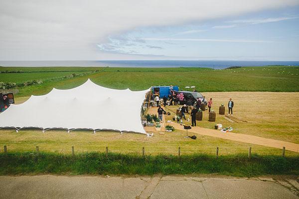 Ariana & Matt's Wedding under a Tentickle wedding tent in Ballintoy