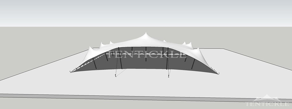 3D Image of a 15m x 12m Tentickle tent & Stretch tent 3D drawing u0026 visualisation by Tentickle Tents