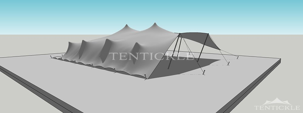 Tentickle 3D Tent Drawing 15m x 12m & Stretch tent 3D drawing u0026 visualisation by Tentickle Tents