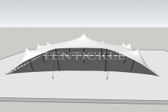 3D Image of a 15m x 12m Tentickle tent