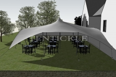 15m x 12m Tentickle Tent - 3D Drawing
