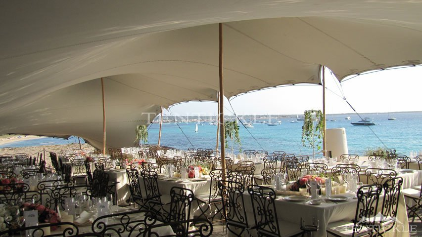 Tentickle Tents in Ibiza & Maximize Your Outdoor Seating Capacity with a Stretch Tent