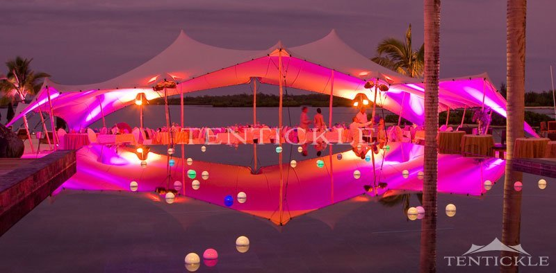 Wedding tent hire made easy for wedding planners tentickle mauritius stretch tent lights junglespirit Gallery
