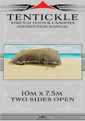 10M x 7.5M Tent Two Sides Open