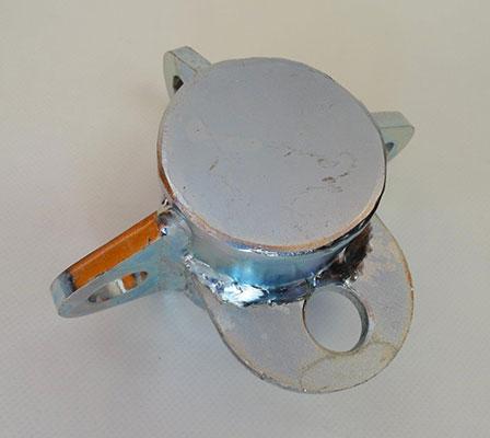 Galvanised Metal Pole Top Caps