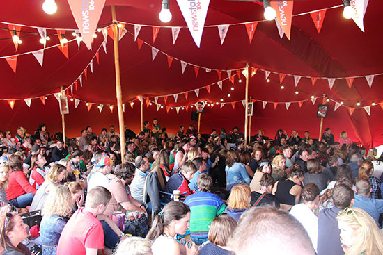 Tentickle Tents Cover the Guests at Electric Picnic