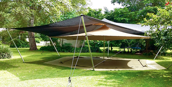The Double Roof Offers Great Protection form the African Heat : safari tents suppliers - memphite.com